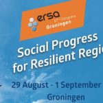 "Aankondiging ERSA-congres ""Social Progress for Resilient Regions"" in Groningen, 2017"